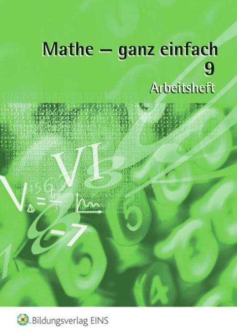 Mathe - ganz einfach 9 / Arbeitsheft als Buch