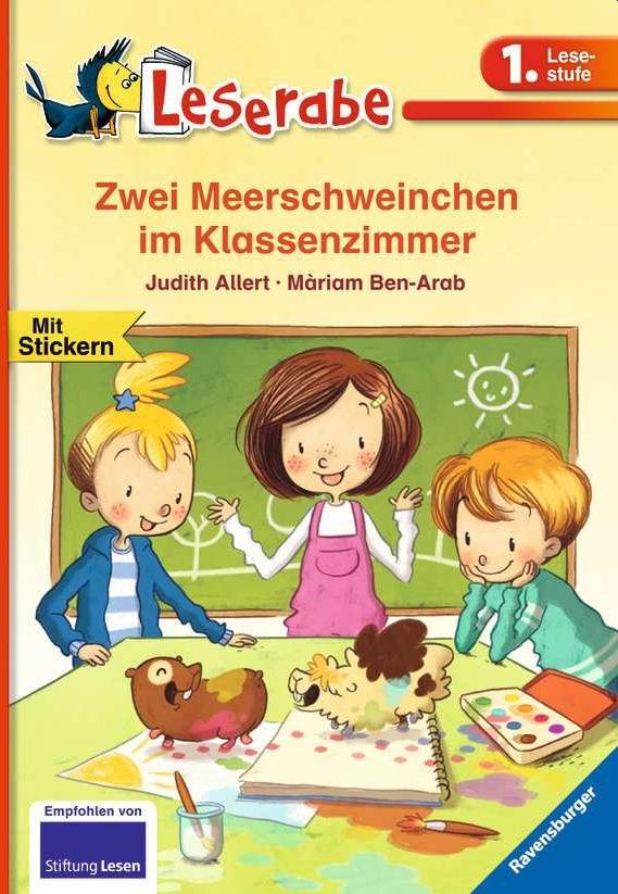 Zwei Meerschweinchen im Klassenzimmer als Buch ...