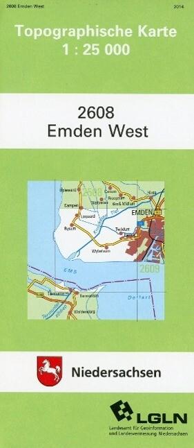 Emden West 1 : 25 000. (TK 2608/N) als Buch