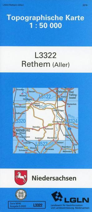Rethem (Aller) 1 : 50 000. (TK 3322/N) als Buch