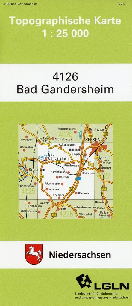 Bad Gandersheim 1 : 25 000. (TK 4126/N) als Buch