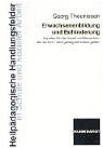 Erwachsenenbildung und Behinderung als Buch