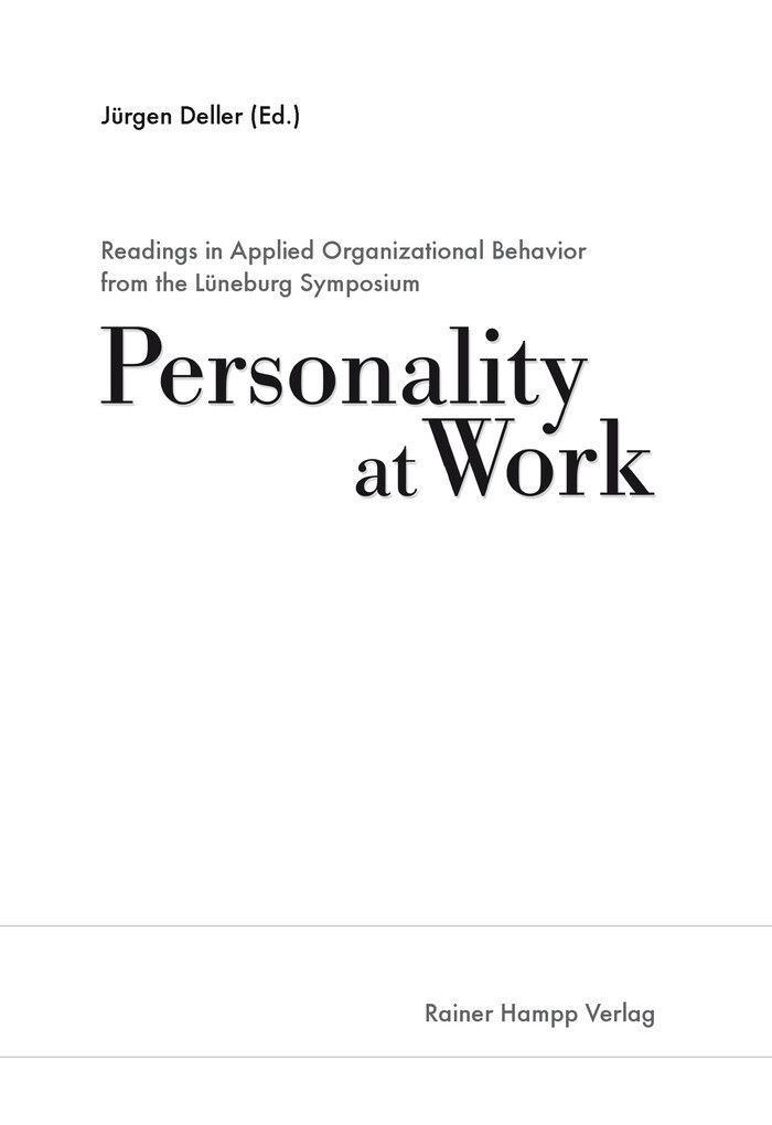 Readings in Applied Organizational Behavior from the Lüneburg Symposium
