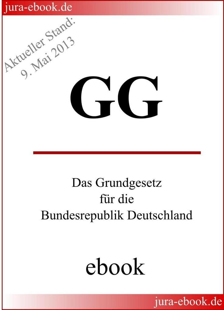 GG - Grundgesetz für die Bundesrepublik Deutschland als eBook