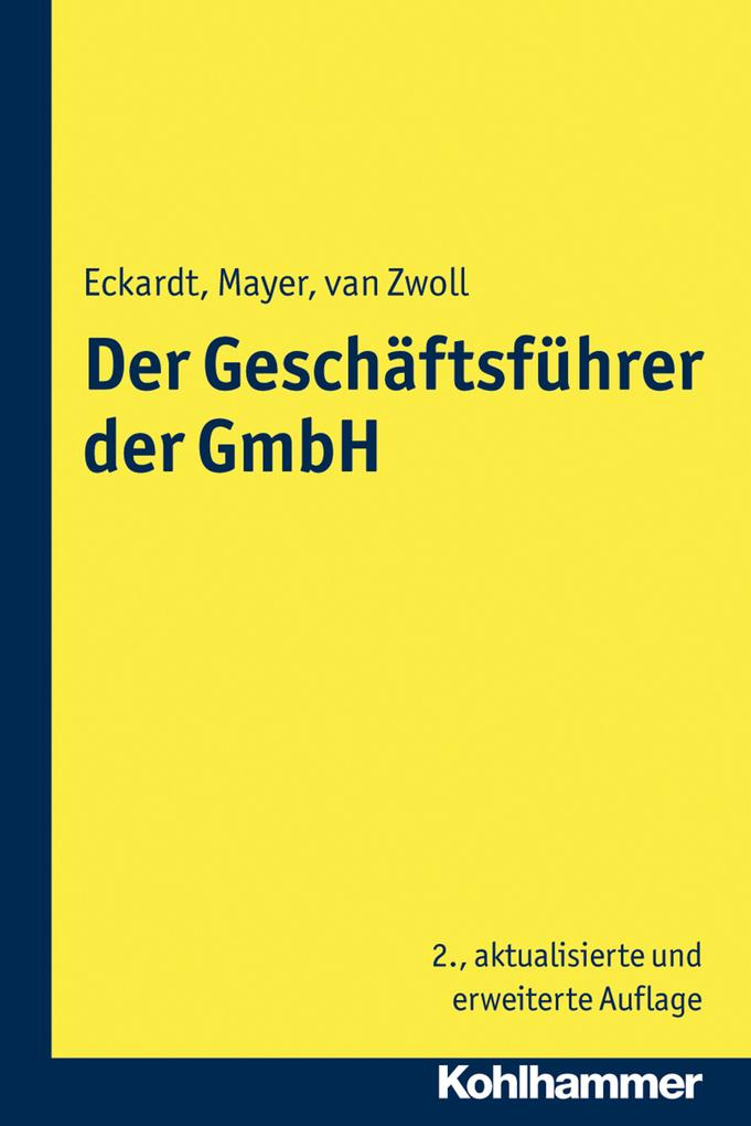 Der Geschäftsführer der GmbH als eBook