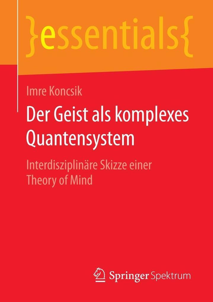 Der Geist als komplexes Quantensystem als eBook