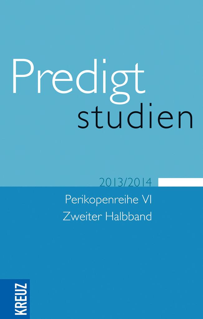 Predigtstudien 2013/2014 als eBook epub