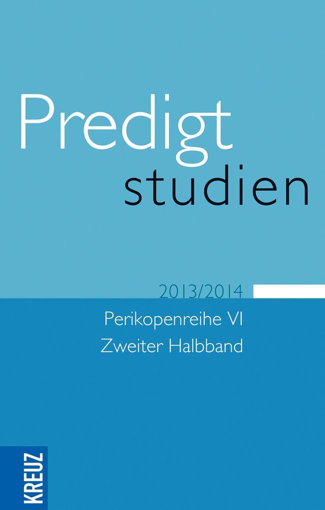 Predigtstudien 2013/2014 als eBook