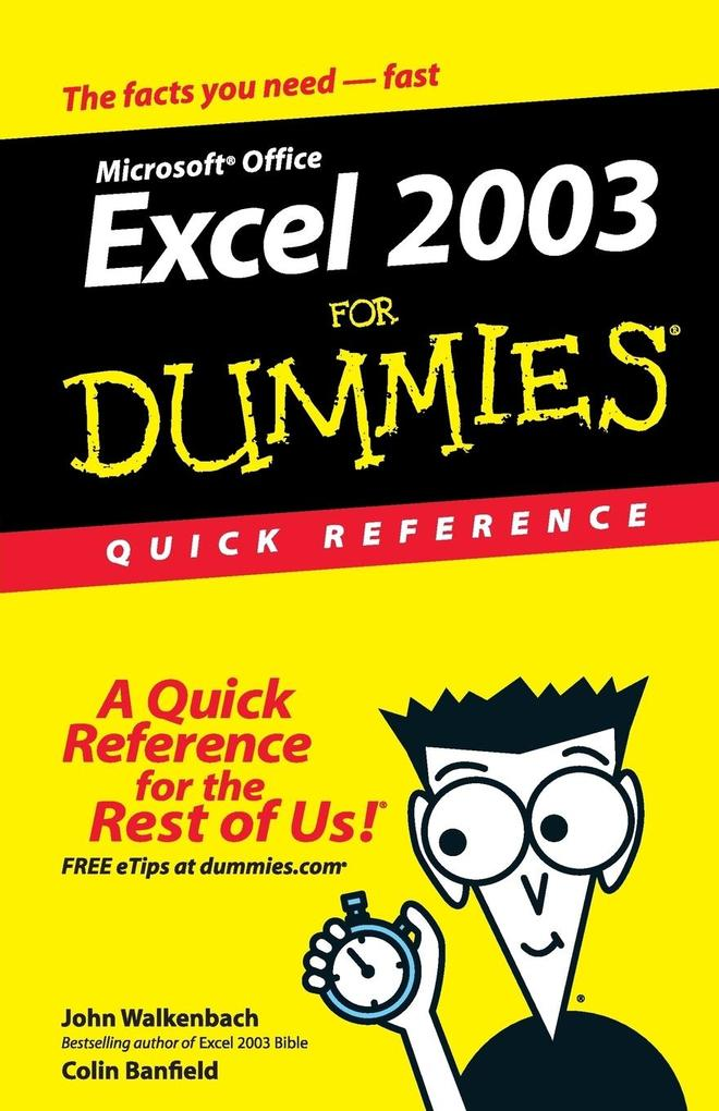 Excel 2003 For Dummies QRef als Buch