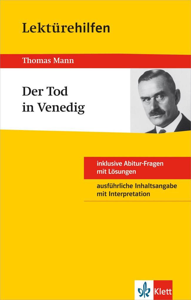 """Klett Lektürehilfen Thomas Mann """"Der Tod in Venedig"""" als Buch"""