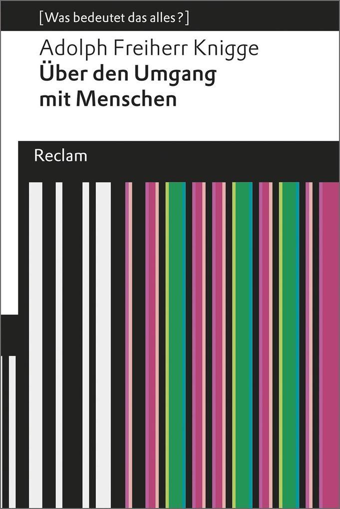Über den Umgang mit Menschen als Taschenbuch von Adolph Freiherr von Knigge