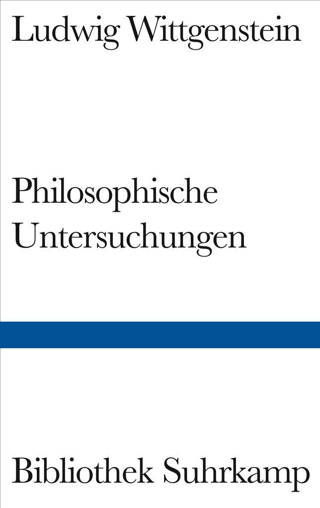 Philosophische Untersuchungen als Buch