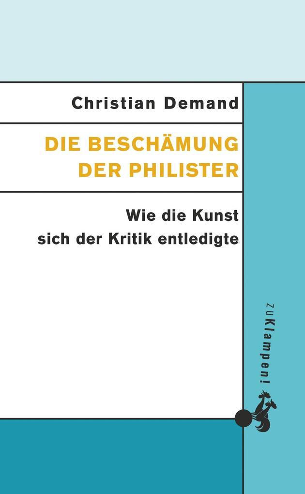 Die Beschämung der Philister als Buch