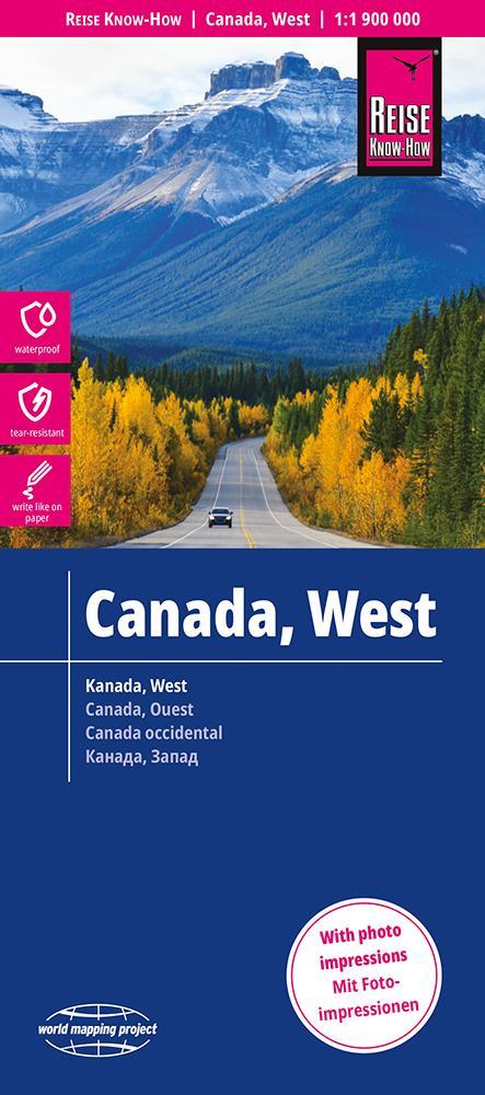 Reise Know-How Landkarte Kanada West 1 : 1.900.000 als Buch