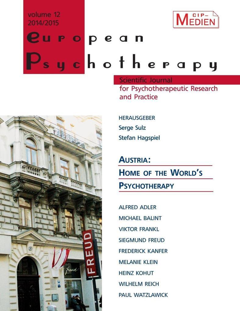 European Psychotherapy 2014/2015 als eBook