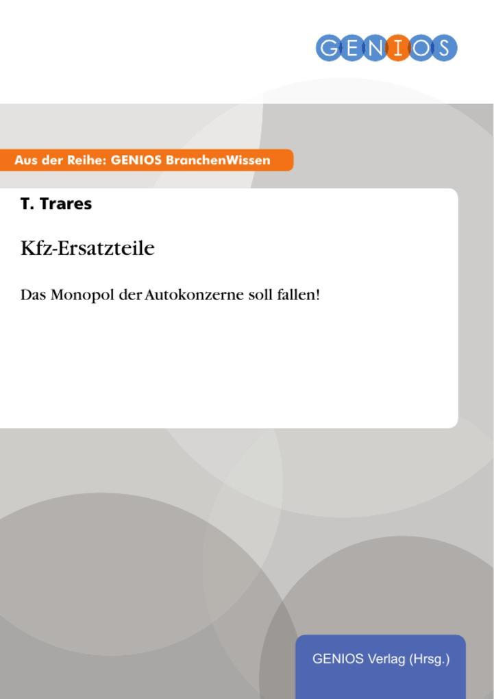 Kfz-Ersatzteile als eBook