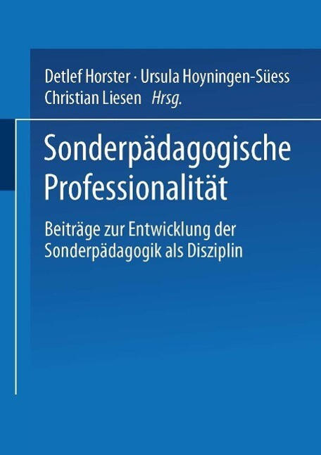 Sonderpädagogische Professionalität als eBook von