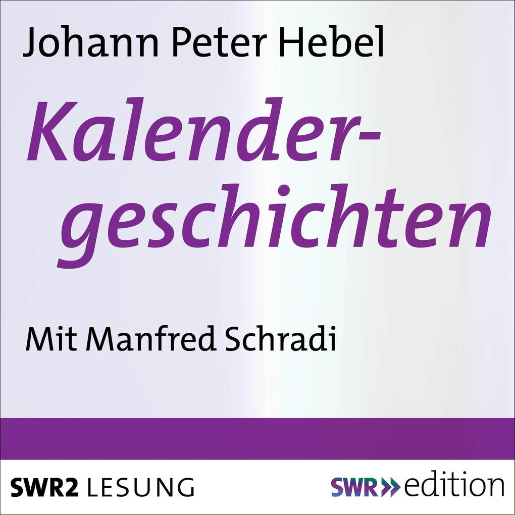 Kalendergeschichten als Hörbuch Download