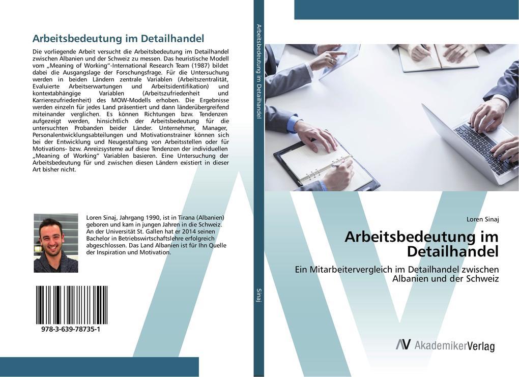 Arbeitsbedeutung im Detailhandel als Buch von L...