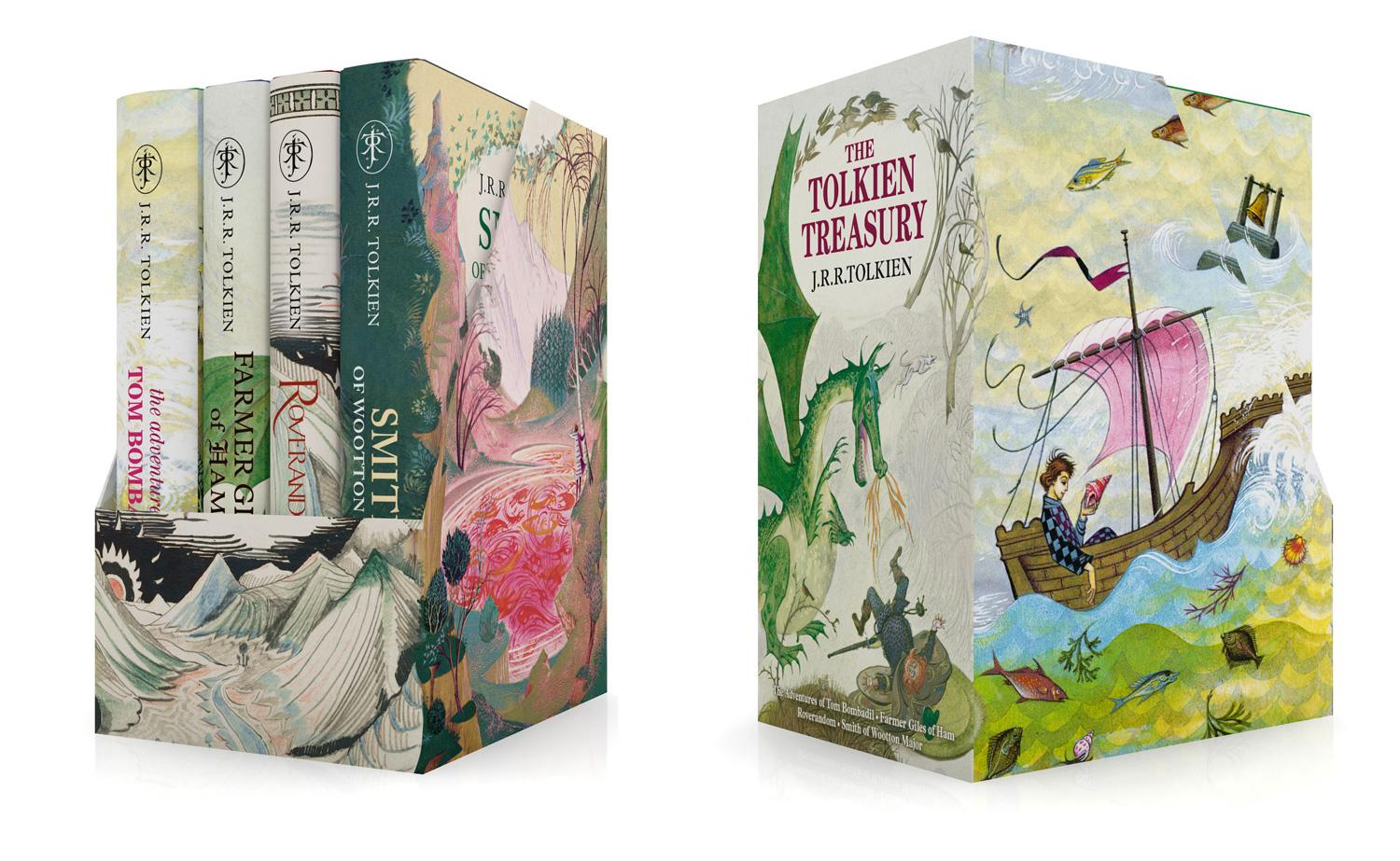 The Tolkien Treasury: Roverandom, Farmer Giles of Ham, The Adventures of Tom Bombadil, Smith of Wootton Major als Buch v