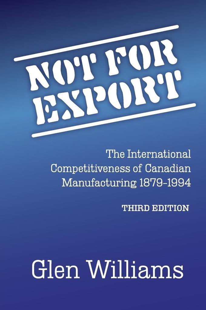 Not For Export als Taschenbuch von Glen Williams