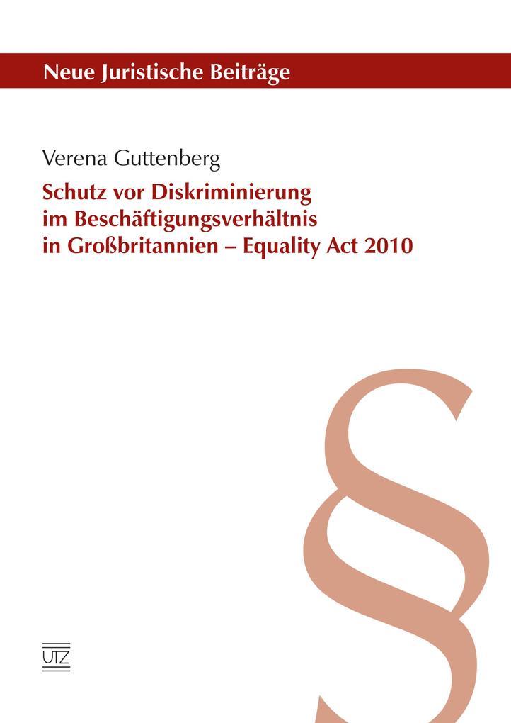 Schutz vor Diskriminierung im Beschäftigungsverhältnis in Großbritannien - Equality Act 2010 als eBook