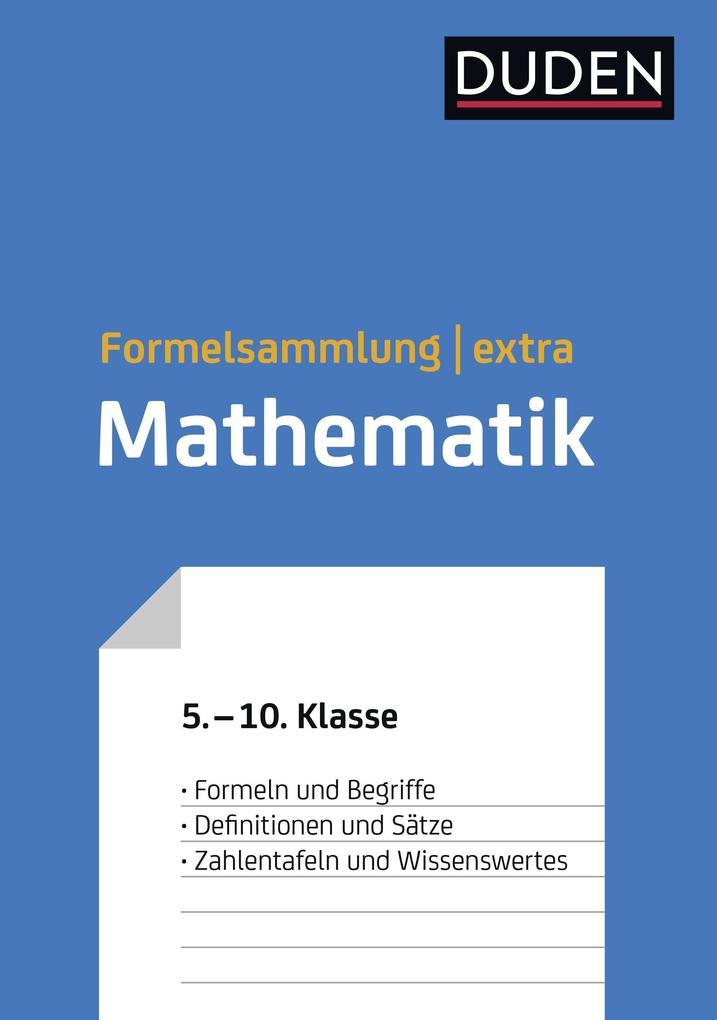 Duden Formelsammlung extra - Mathematik als Buch (gebunden)