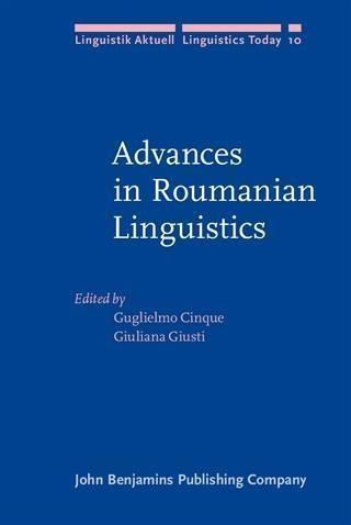 Advances in Roumanian Linguistics als eBook pdf
