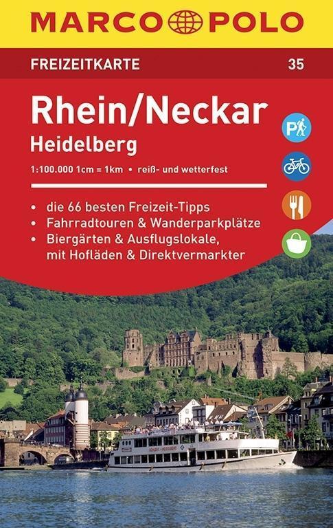 MARCO POLO Freizeitkarte 35 Rhein, Neckar, Heidelberg 1 : 100 000 als Buch