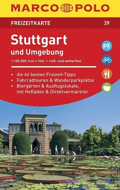 MARCO POLO Freizeitkarte 39 Stuttgart und Umgebung 1 : 100 000 als Blätter und Karten