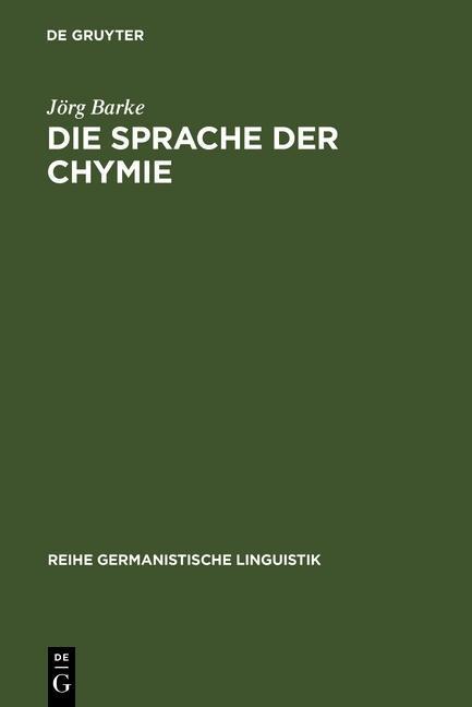 Die Sprache der Chymie als eBook