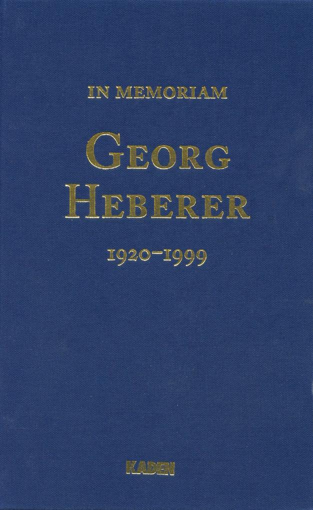 Georg Heberer als eBook