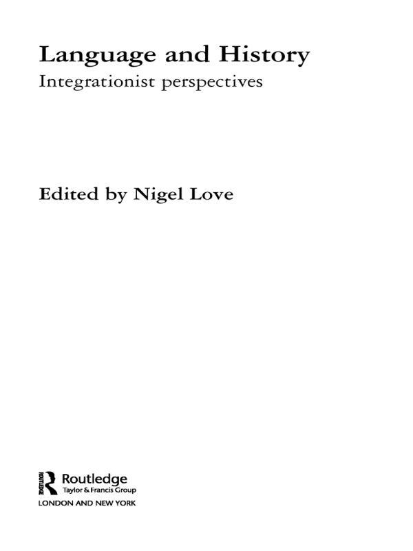 Language and History als eBook pdf