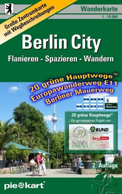 Berlin City 1 : 10.000 Wanderkarte als Buch