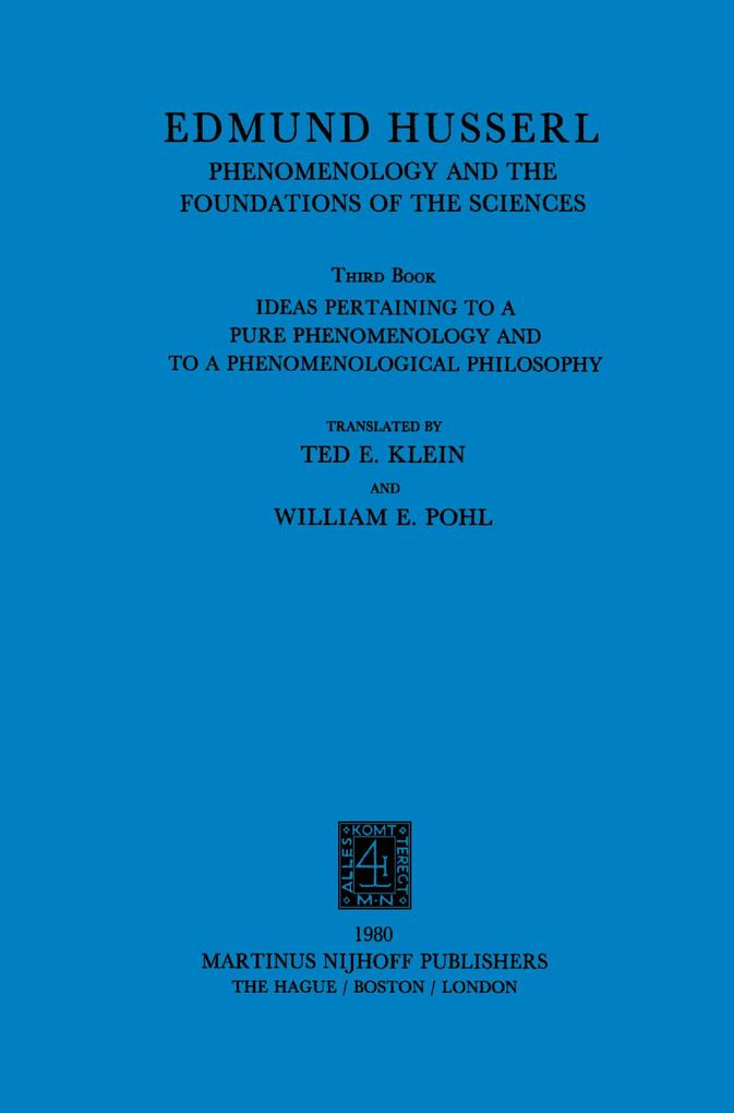 Ideas Pertaining to a Pure Phenomenology and to a Phenomenological Philosophy als Buch (kartoniert)