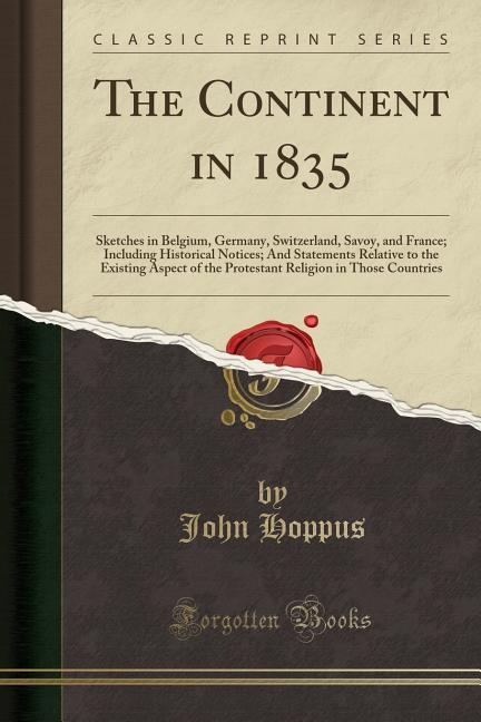 The Continent in 1835 als Taschenbuch von John Hoppus