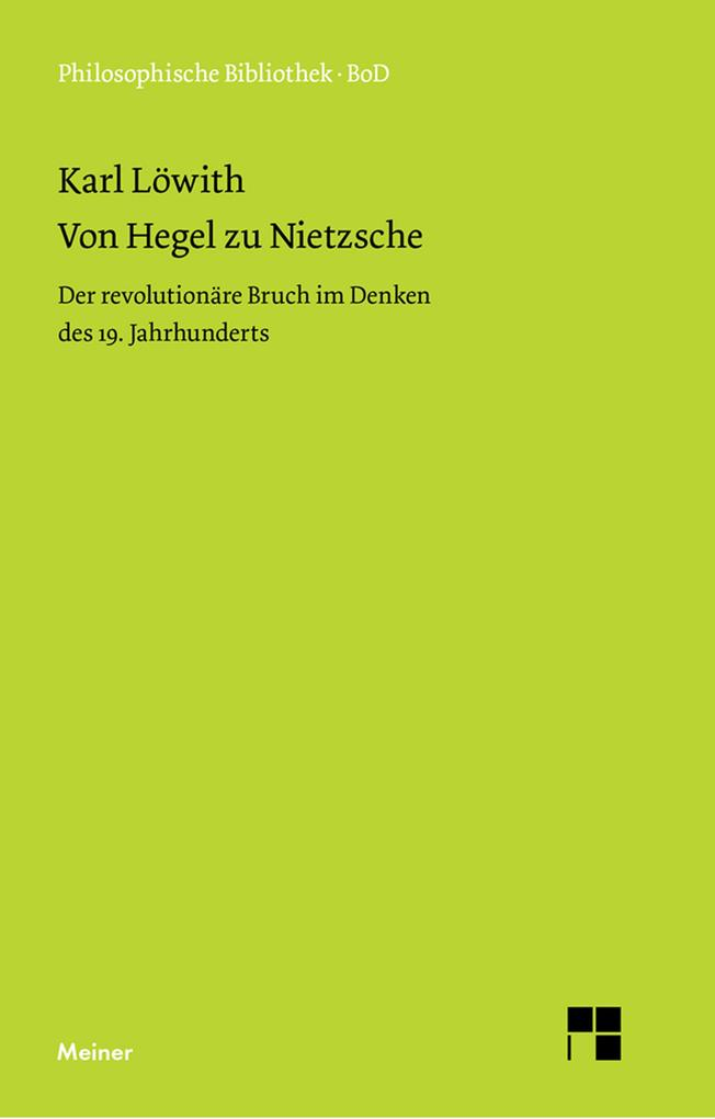 Von Hegel zu Nietzsche als eBook