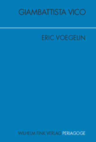 Giambattista Vico als Buch von Eric Voegelin