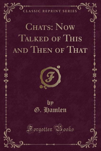 Chats als Taschenbuch von G. Hamlen