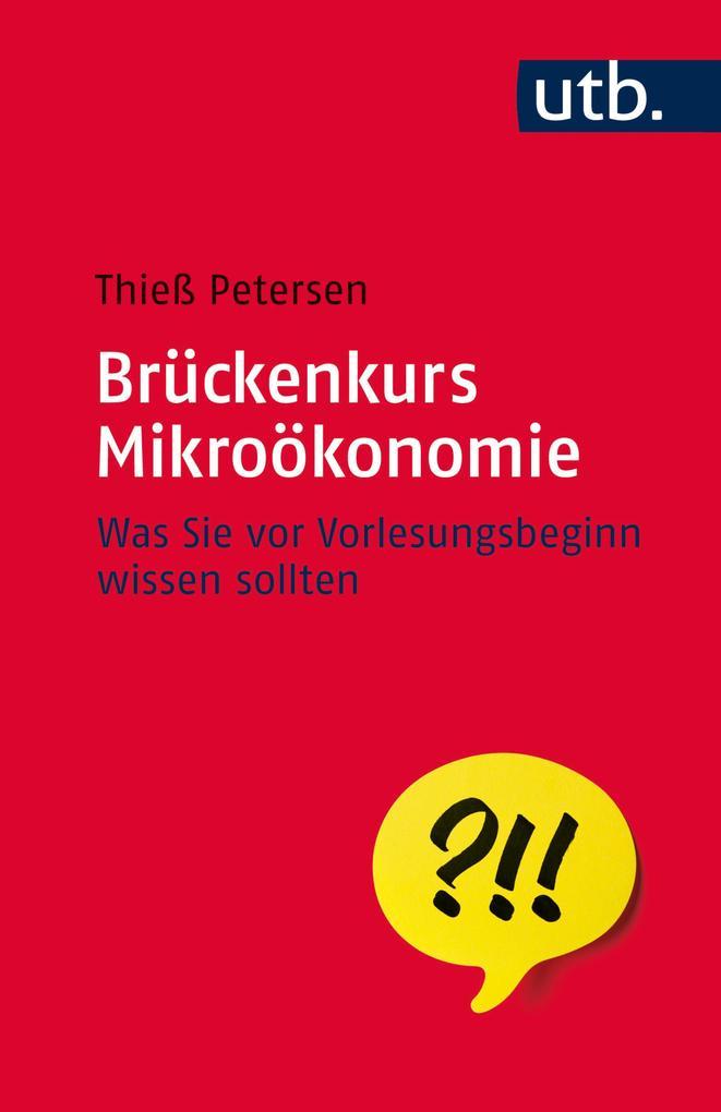 Brückenkurs Mikroökonomie als eBook