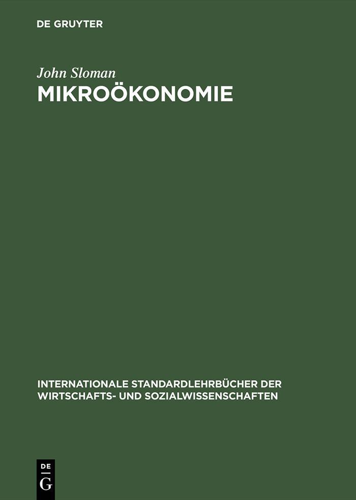 Mikroökonomie als eBook von John Sloman