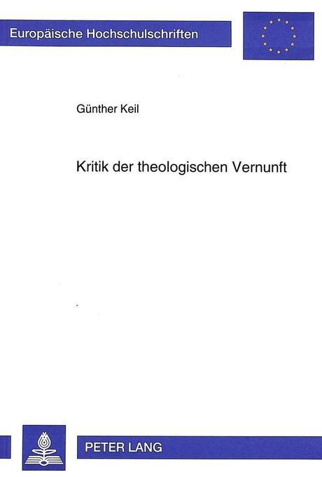 Kritik der theologischen Vernunft als Buch
