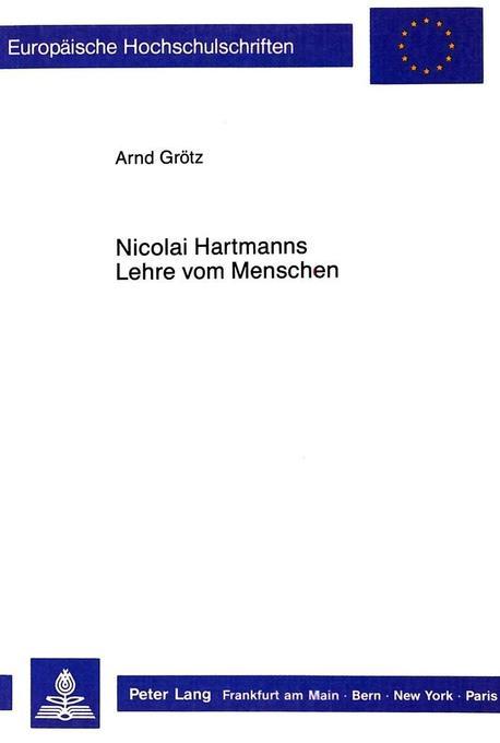Nicolai Hartmanns Lehre vom Menschen als Buch