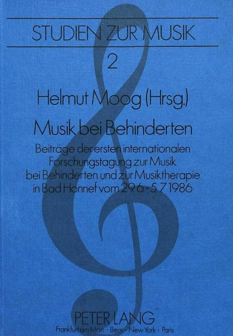 Musik bei Behinderten als Buch von