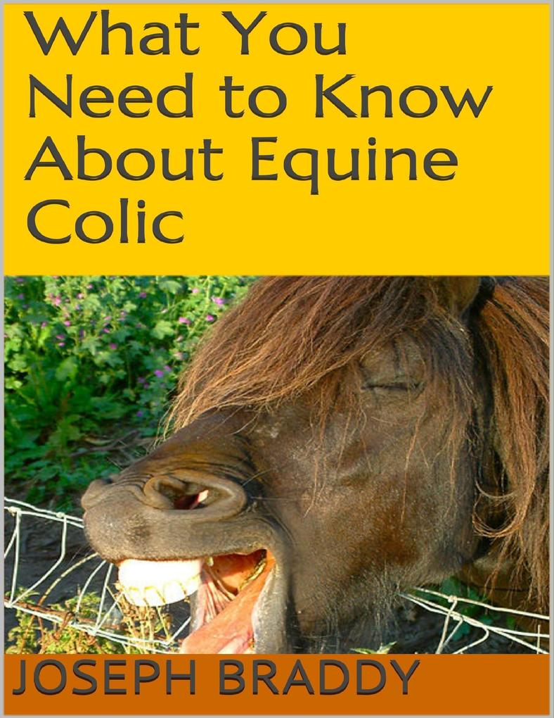 What You Need to Know About Equine Colic als eBook von Joseph Braddy