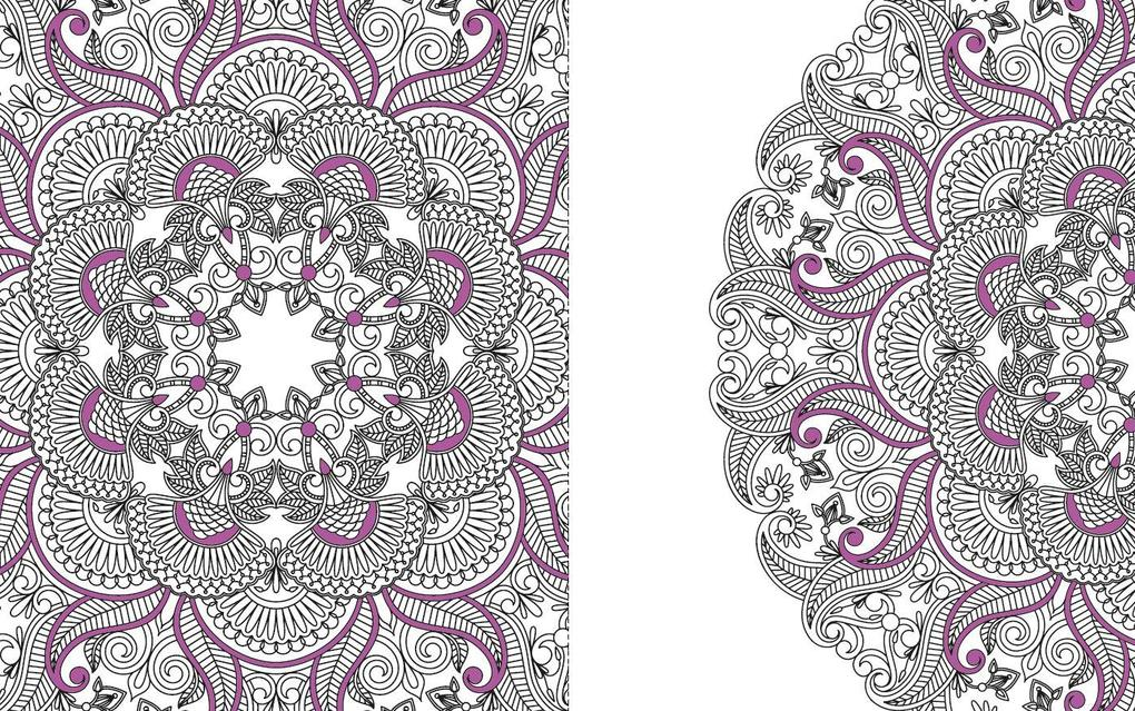 Kreatives Ausmalen Blumen