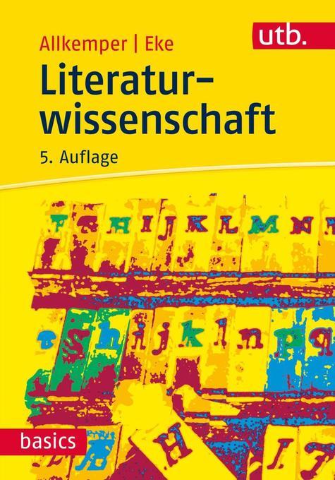 Literaturwissenschaft als Buch von Alo Allkemper, Norbert O. Eke