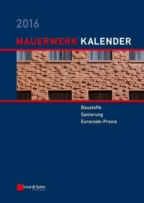 Mauerwerk-Kalender 2016 als Buch