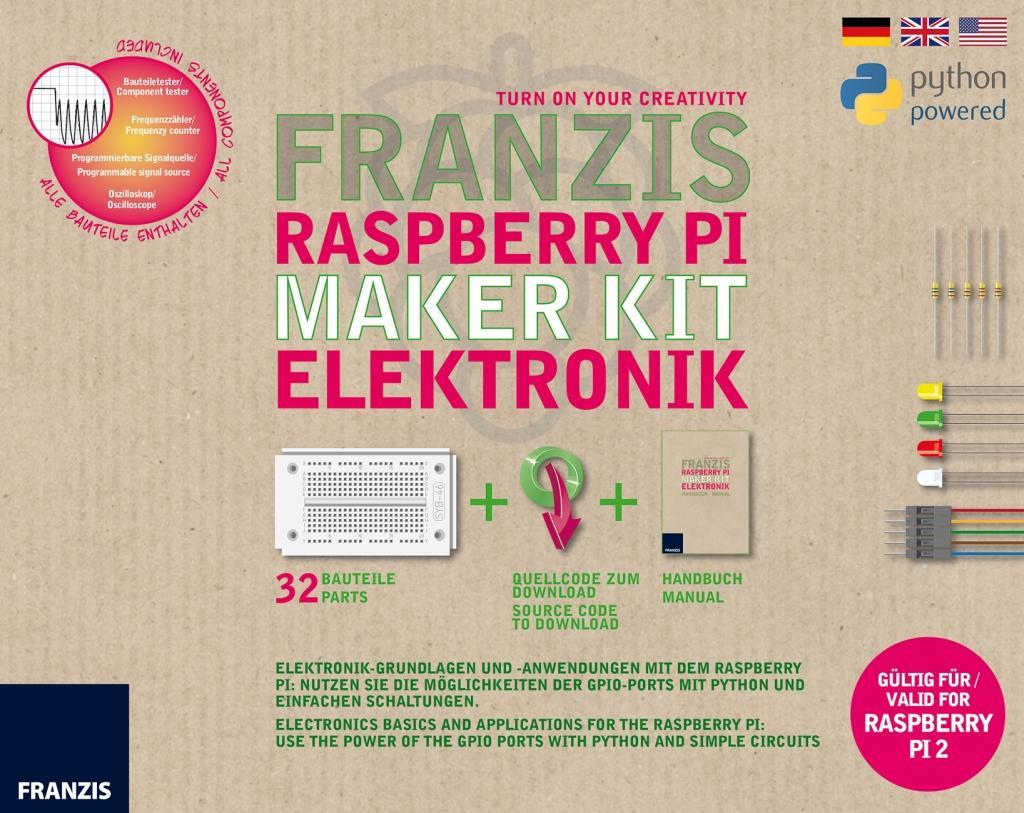 Franzis Raspberry Pi Maker Kit Elektronik