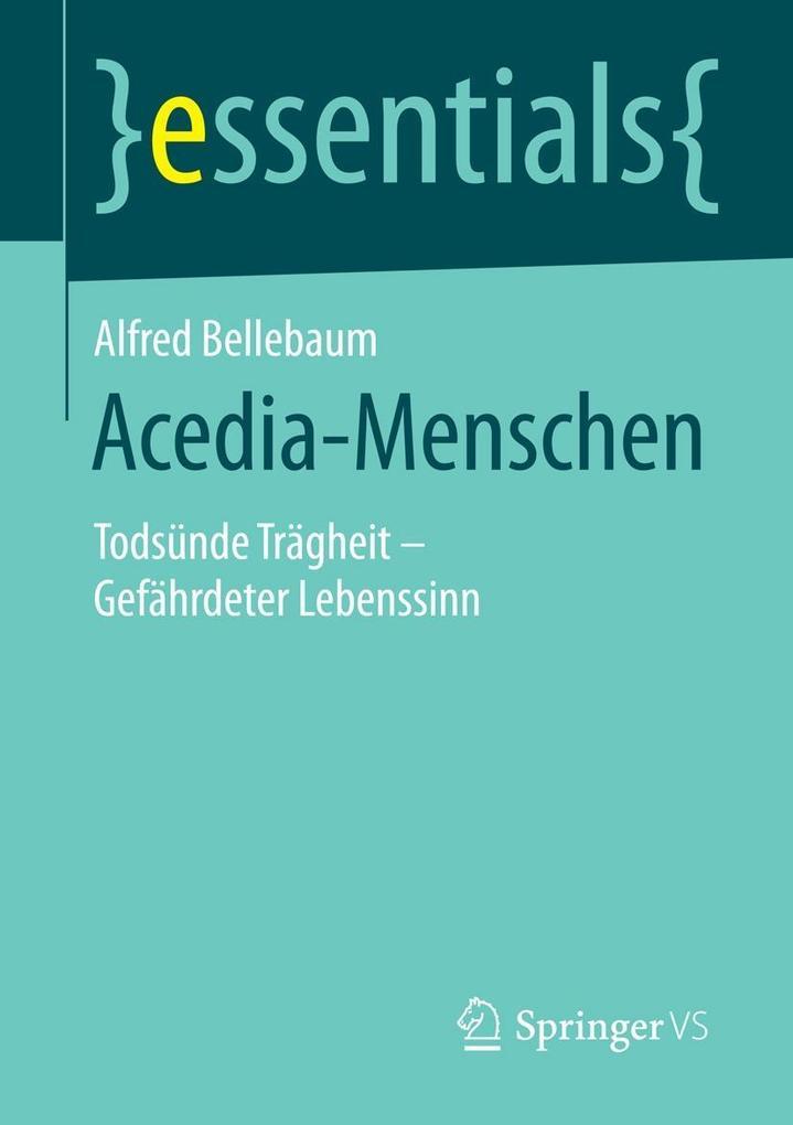 Acedia-Menschen als eBook